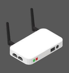 Wireless network routerof flat style isometric vector