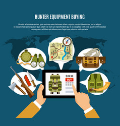 Hunter equipment composition vector