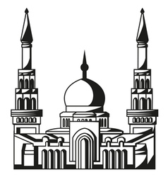 Symbol of islam silhouette of mosque ramadan vector