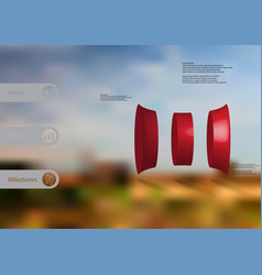 3d infographic template with curved cylinder vector