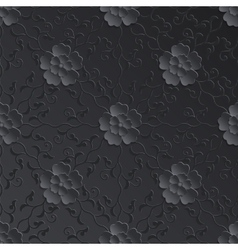 Flower seamless pattern element volumetric vector