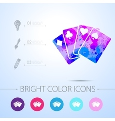Game cards icon with infographic elements vector