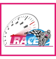 Motor race logo event vector image