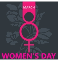 Pink symbol womens day background vector