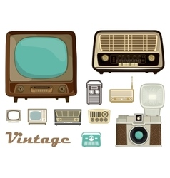 Retro equipment vector