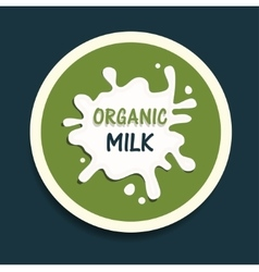 Organic milk icon vector
