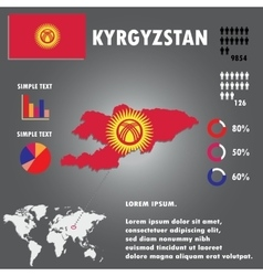 Kyrgyzstan country infographics template vector