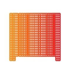 Bar code sign orange applique isolated vector