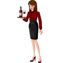 A waitress vector image