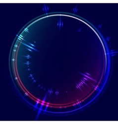 Abstract background with glowing circle frame vector image vector image