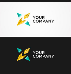 Abstract star logo concept vector
