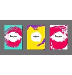 Art flyer brochure design template book cover vector