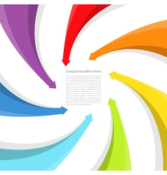 Background with rainbow arrows vector image