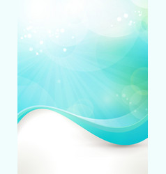 Blue green wave design vector image vector image