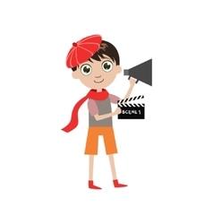 Boy future movie director vector
