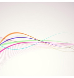 Bright colorful rainbow lines merry background vector image vector image