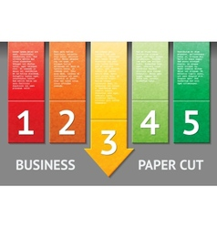 Business paper cut template vector