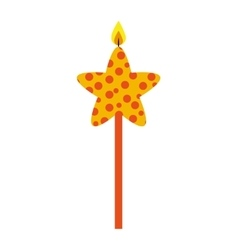 candle flame star birthday isolated icon vector image vector image