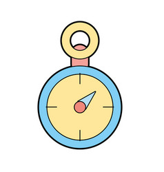 compass to know the direction of exploration vector image