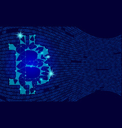 crypto currency bitcoin net banking mining future vector image