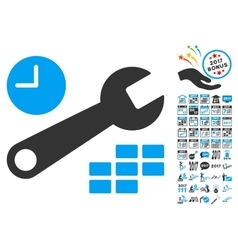 Date and time configuration icon with 2017 year vector
