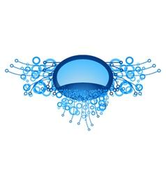Decorative blue emblem vector