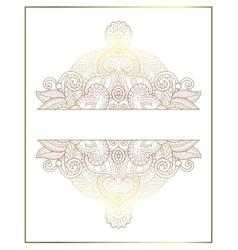elegant floral ornamental background golden decor vector image