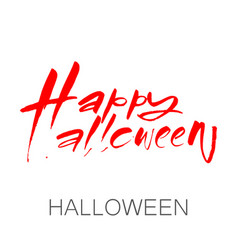 Happy halloween lettering vector