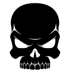 Human skull black and white vector