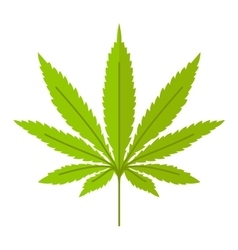 Marijuana leaf icon vector
