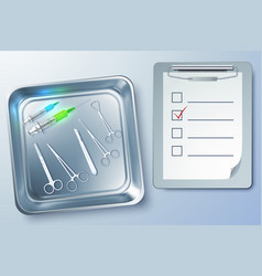 Medical instruments background vector
