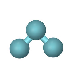 molecular formula of ozone vector image