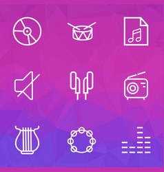 Music outlines set collection of soundtrack vector