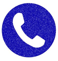 Phone number icon grunge watermark vector