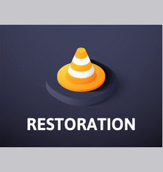 restoration isometric icon isolated on color vector image