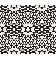 Seamless black and white oriental geometric vector