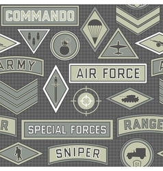 seamless military pattern 09 vector image