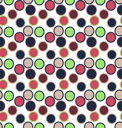 Seamless round circle patternseamless patterns vector image vector image