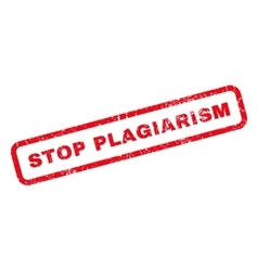 Stop plagiarism rubber stamp vector