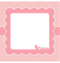 Sweet baby card vector