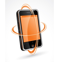 touchscreen cellphone vector image vector image