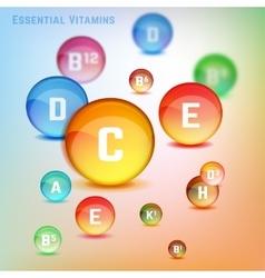 Vitamins Set Image vector image vector image