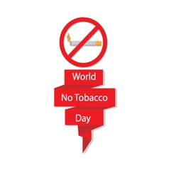 World No Tobacco Day banner vector image