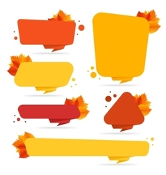 Set of banners with autumn leaves vector image