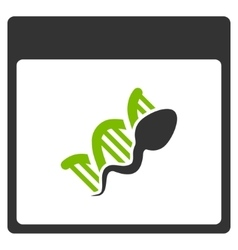 Sperm dna replication calendar page flat icon vector