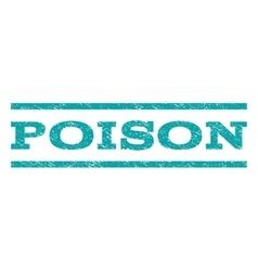 Poison watermark stamp vector