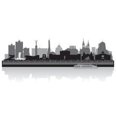 Samara city skyline silhouette vector image