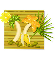 Exotic fruit meal vector