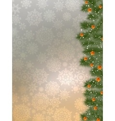 Thank you card on a bright christmas EPS 10 vector image
