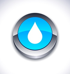Rain 3d button vector